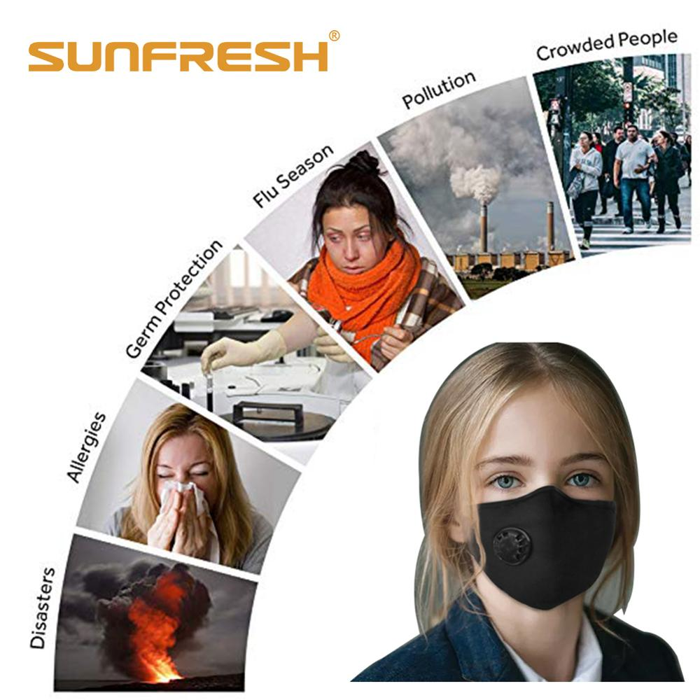 Anti dust mask n95 cotton reusable cartoon mouth face mask anti pm2 5 dust Unisex Black Mouth Mask Washable Anti Dust Protective in Masks from Beauty Health