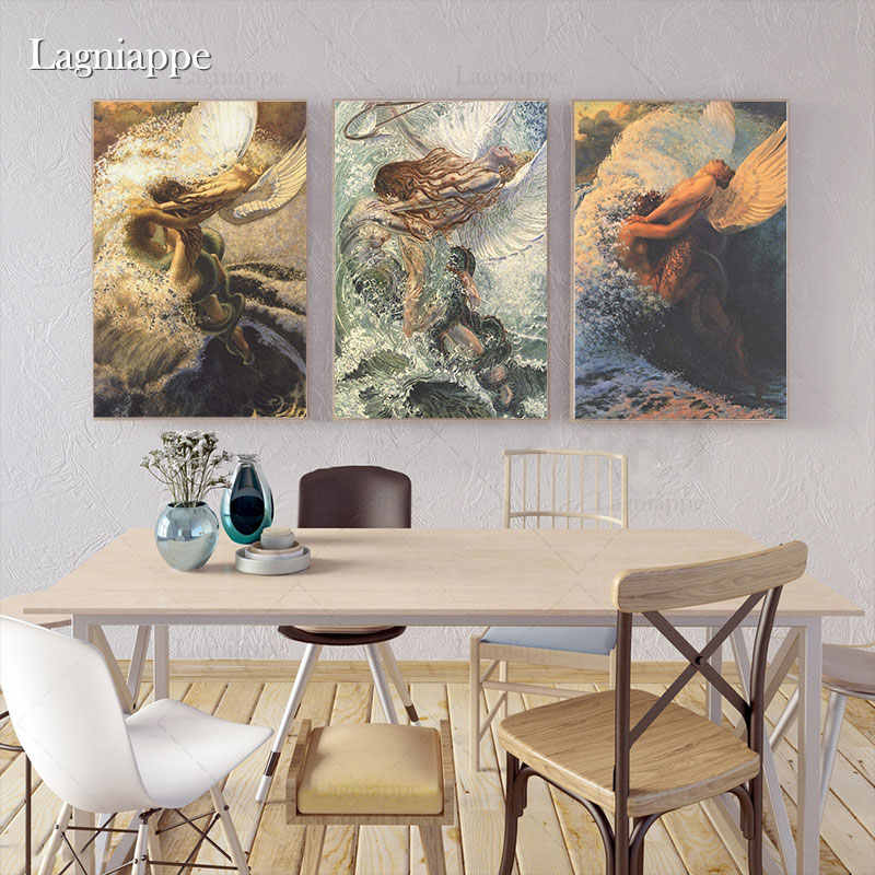 Carlos Schwabe Cilassic Paintings Artworks Aesthetic Home Kids Living Room Bedroom Decor Print Poster Picture Wall Art Canvas Painting Calligraphy Aliexpress