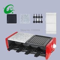 0-260 grados ajustar eléctrica grill 3-8persons usando barbacoa sin humo mini casa parrilla usado para varios productos
