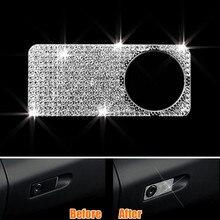 Для Хранения Бардачок ручка Крышка отделка Алмаз Декор Рамки интерьер автомобиля стиль Стикеры для Mercedes Benz C/E calss GLK/CLS/GL