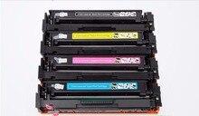 4pcs New color toner cartridge CF540A 203A Compatible for hp M281fdw M254dw/dn/nw M280nw M281fdn/cdw laser printer toner kit