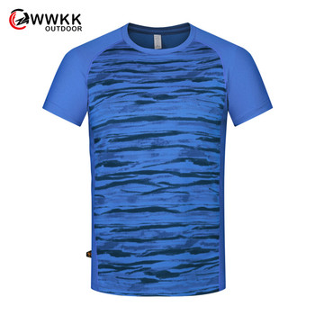WWKK T-shirt Men's Quick-Drying Sweat-Absorbent Fitness Clothing Outdoor Climbing Short-Sleeved Color Men's Hiking Thin T-shirts