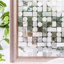 3D láser papel de aluminio de colores ventana película decorativa estática de privacidad película de vidrio pegatina de cristal esmerilado opaco puerta corredera decoración del hogar