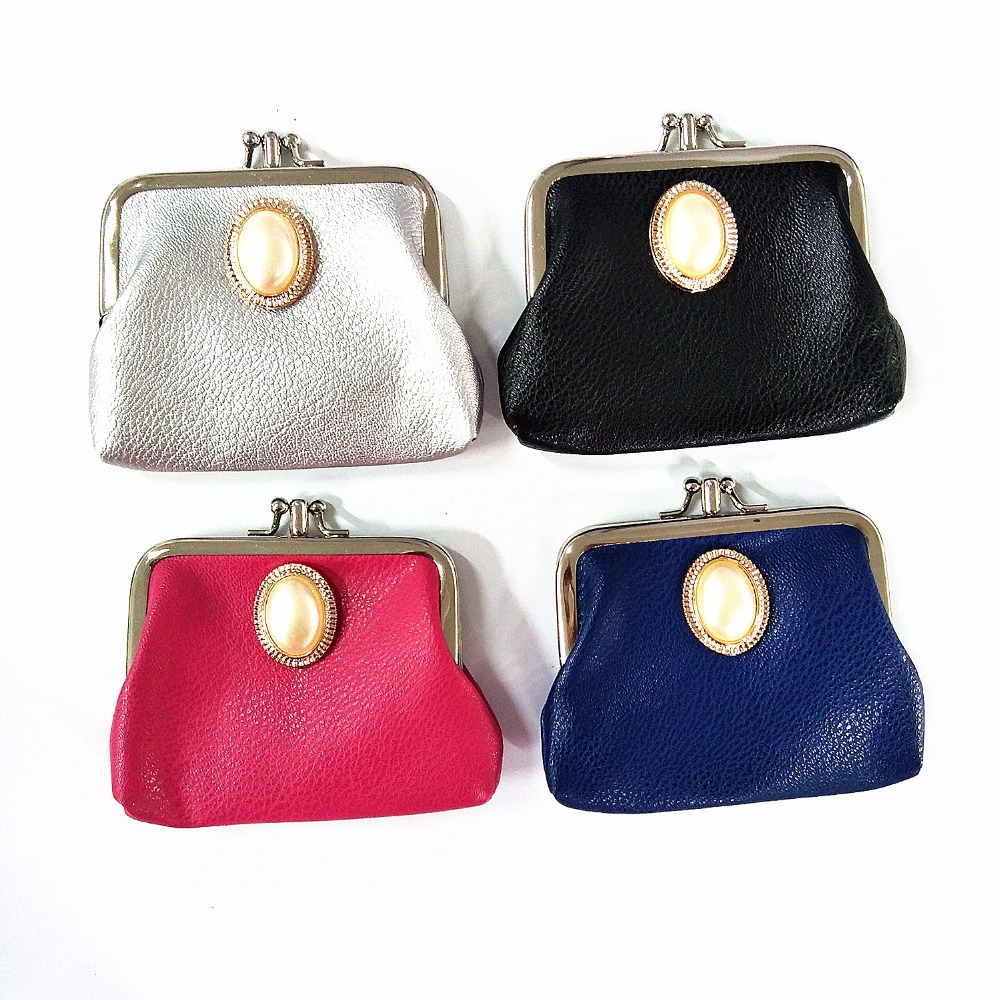 M187 2017 Casual Women Purse New Classic Fashion Trends Big Bead Double Deck Hasp Coin Purses Girl Women Student Gift Wholesale