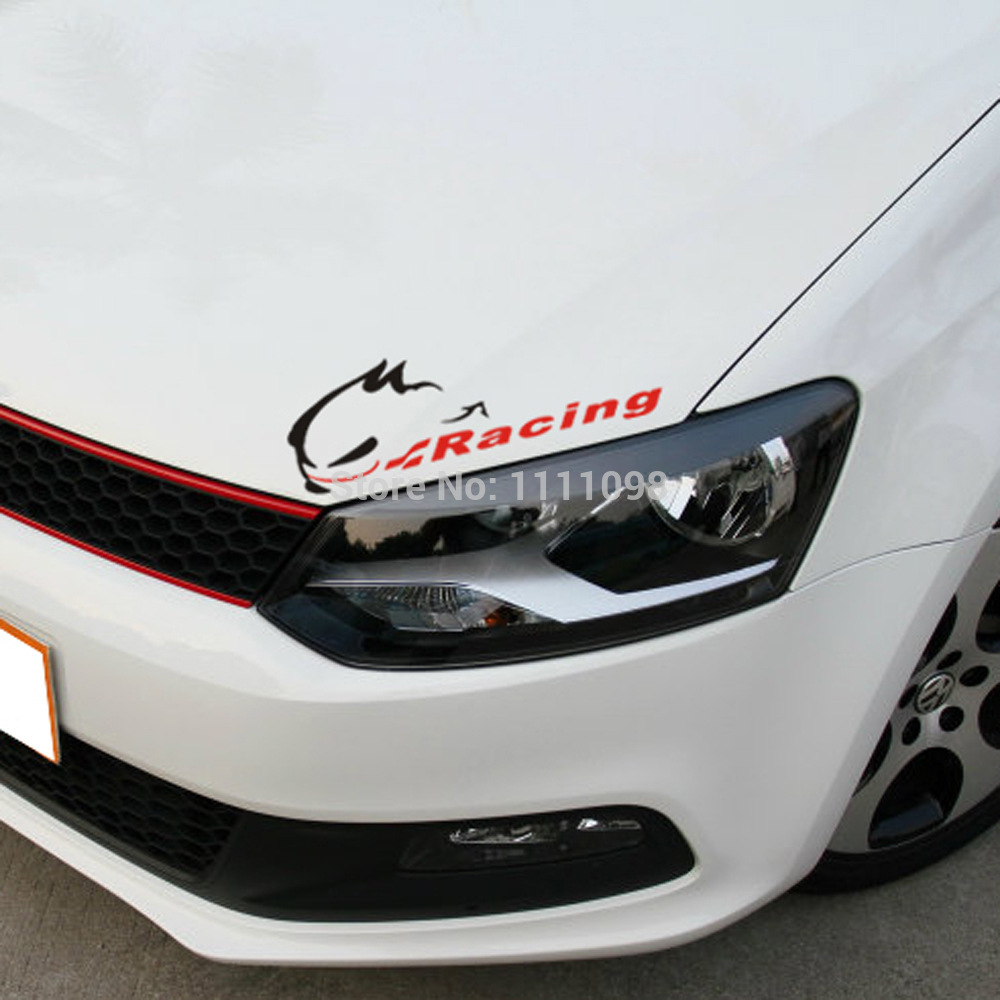 Race car sticker design - 10 X New Style Sports Stickers Evil Rabbit Racing Car Decals Racing For Volkswagen Vw Golf