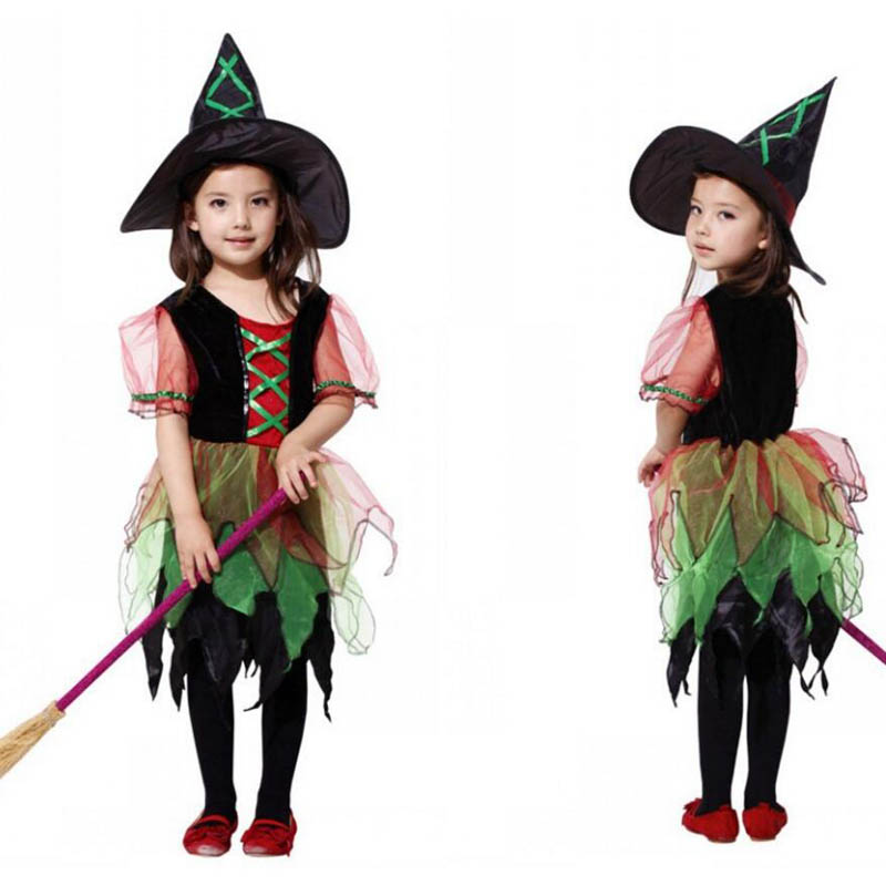 Little Witch Dress and Hat Toddler Child Costume cosplay costumes anime Christmas gift Halloween child clothes female child set