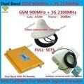 ЖК Dual Band GSM 3 Г Ретранслятор GSM 900 МГц 2100 МГц W-CDMA UMTS Repetidor 3 Г Антенна Усилитель Сигнала 2 Г 3 Г Мобильный Телефон Booster