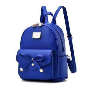 Image 4 - FGJLLOGJGSO Fashion Women Bag School Lady Backpack PU Leather small Student Shoulder Casual Female Backpacks Softback Bags Sac