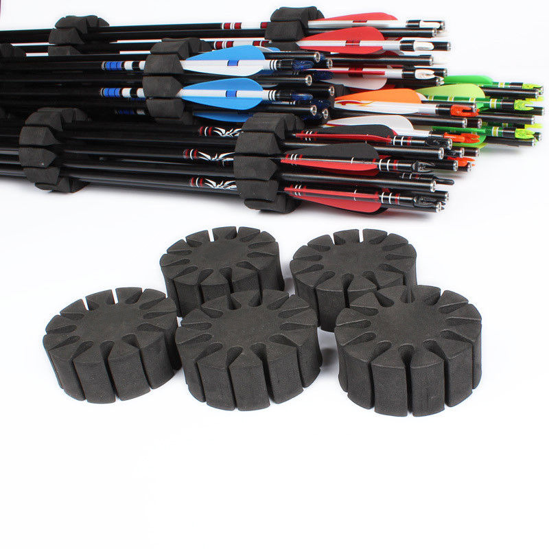 2pcs / 6pcs Archery Arrow Holder EVA Sponge Hunting Recurve Compound Bow Arrow Stand Arrow Case bag
