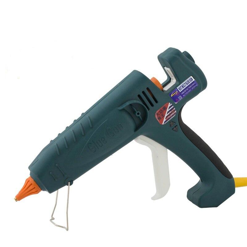 400 W UE plug haute puissance thermofusible pistolet à colle avec 2 pièces bâton de colle, 1 pièces buse et manchon en caoutchouc, 1 clé, 1 ensemble/lot, livraison gratuite
