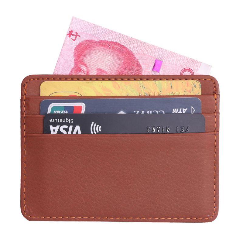 Leather Credit Card Driving License Holder Wallet ID Slim Pockets Waterproof
