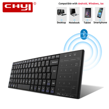 CHYI Ultra thin Bluetooth3 0 Wireless Keyboard Slim Touch Pad Computer Keypad For Windows Mac IOS