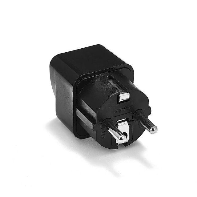 1 pièces adaptateur de prise universel ue International AU royaume-uni états-unis à l'ue Euro KR adaptateur de voyage prise électrique convertisseur prise de courant 2