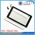 Nuevo 7 '' pulgadas de pantalla táctil Panel táctil Tablet PC digitalizador FPC-70A33-V01Glass reemplazo envío gratis