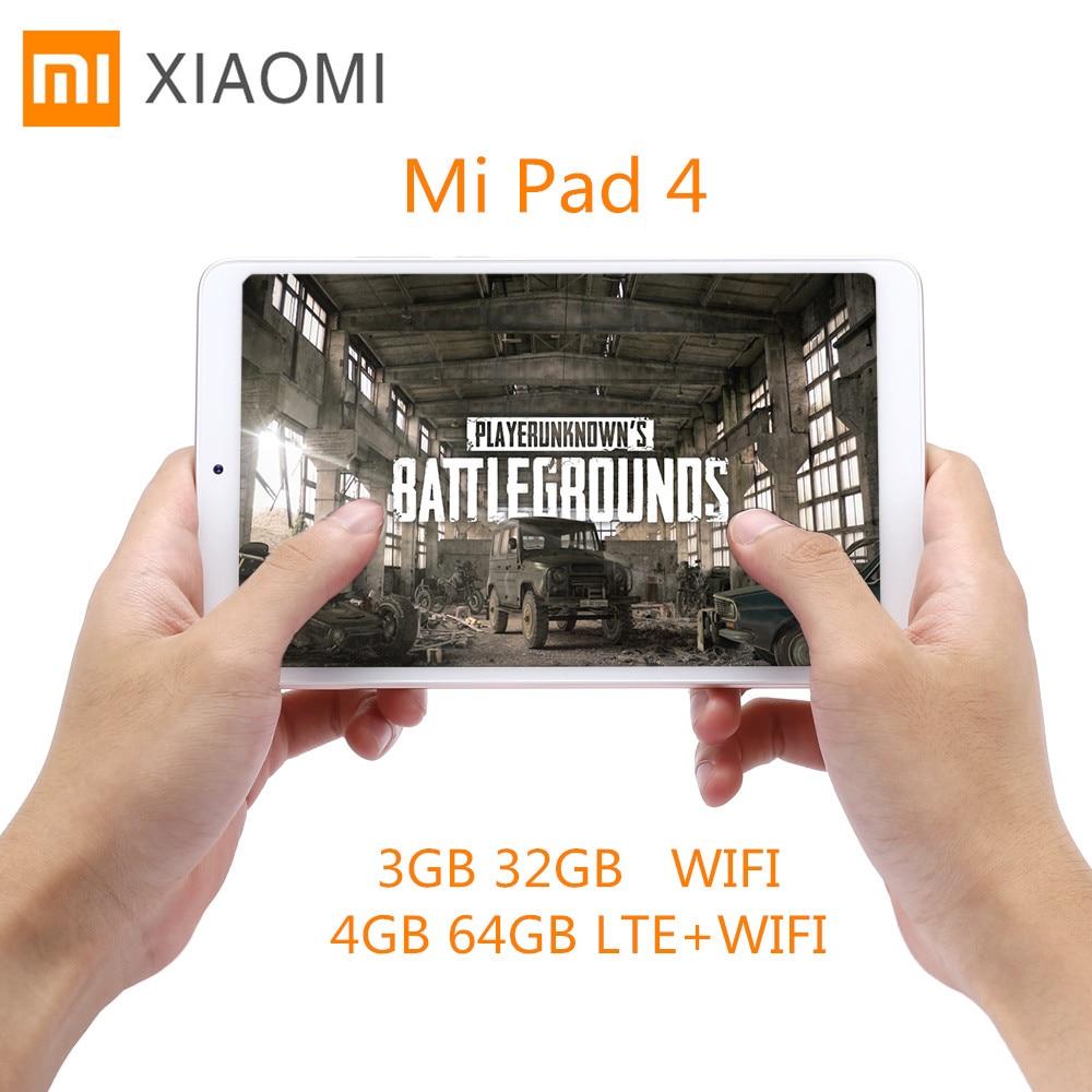 Xiao mi mi Pad 4 Tablet PC 8.0 ''mi UI 9 Qualcomm Snapdragon 660 Octa Core 4 GB + 64 GB/5MP + 13MP Double HD Caméras Double WiFi Comprimés