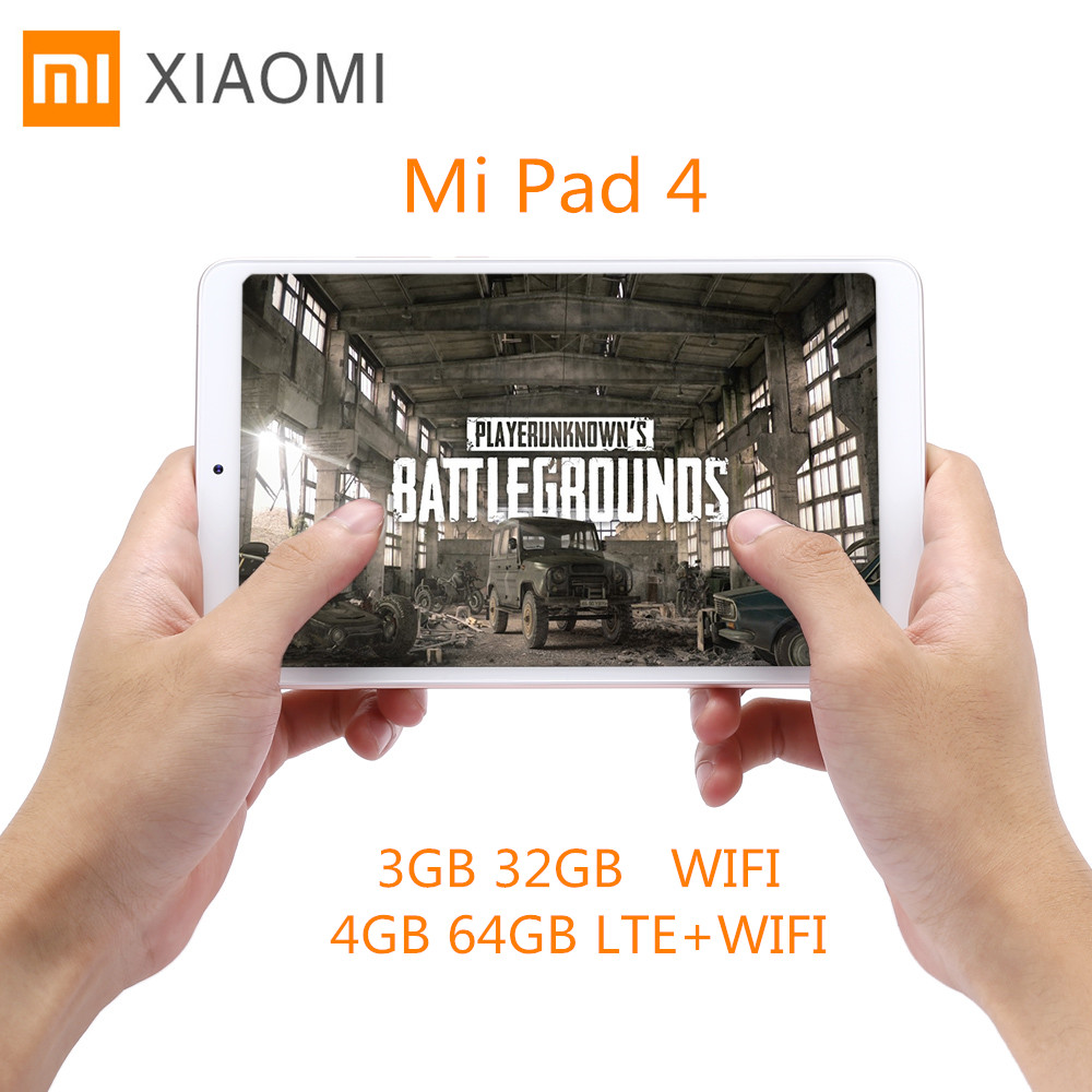 Xiaomi Mi Pad 4 Tablet PC 8.0'' MIUI 9 Qualcomm Snapdragon 660 Octa Core 4GB+64GB/5MP+13MP Double HD Cameras Dual WiFi Tablets original xiaomi mi pad 4 tablets wifi lte 4gb 64gb 8 0 inch tablet pc snapdragon 660 aiecore 12 0mp 5 0mp 6000mah tablet android