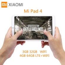 Xiaomi Mi Pad 4 Tablet PC 8.0'' MIUI 9 Qualcomm Snapdragon 660 Octa Core 4GB+64GB/5MP+13MP Double HD Cameras Dual WiFi Tablets