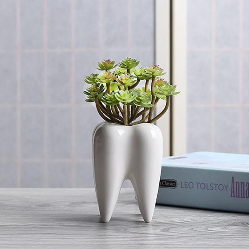 White Ceramic Fleshy Small Flowerpot Table Plant Pot Culture Flower Home Decoration Bonsai Pots For Green Plants Hot A3