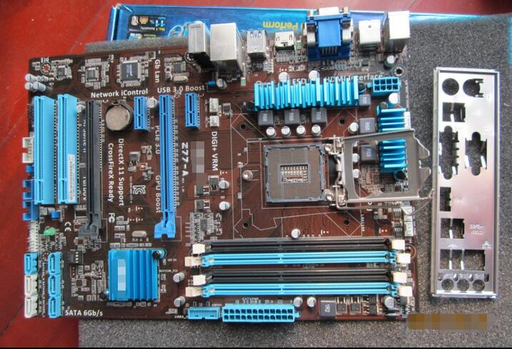 Free shipping original Z77 motherboard for ASUS P8Z77-A SATA3 USB3.0 LGA1155 DDR3 32G free shipping original motherboard for asus p8p67 le ddr3 lga 1155 ram 32g motherboards sata3 0 usb3 0 mainboard