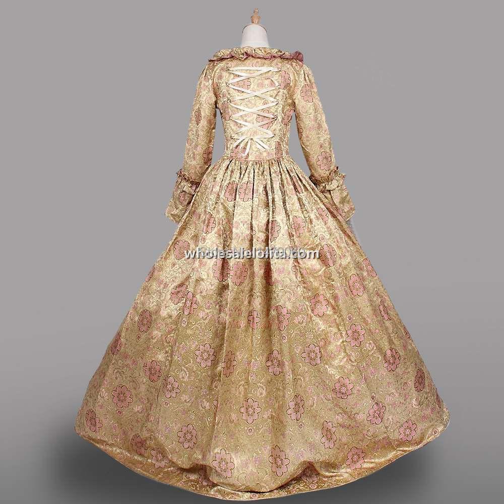 Pakaian Gothic Wanita Champagne Gaun Victoria Era Victoria Gaun - Pakaian Wanita - Foto 3