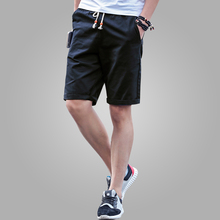 Shorts Men 2016 Summer Fashion Mens Shorts Casual Black Cotton Slim Bermuda Masculina Beach Shorts Joggers Trousers Solid Color