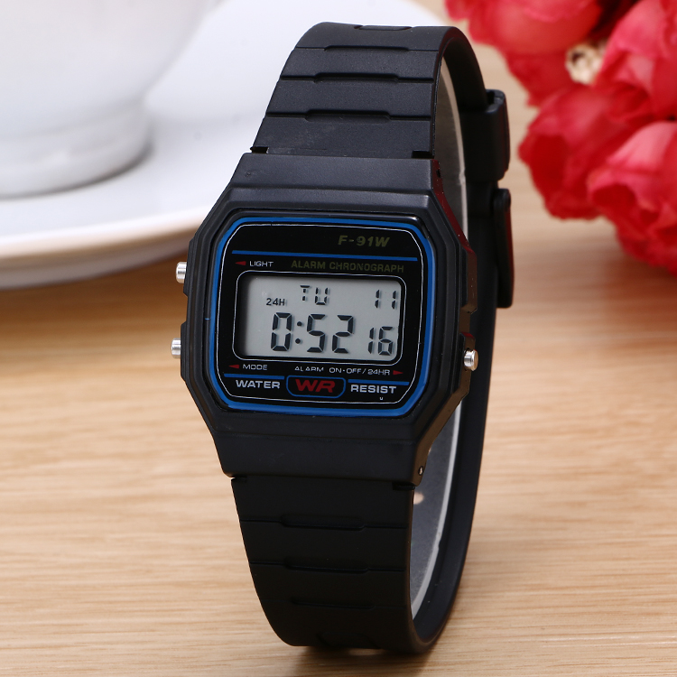 100pcslot Ultra-thin Digital Children Watch Silicone Kids Watch Candy Colors Children Wristwatch Wholesale Clock Hour For Kids