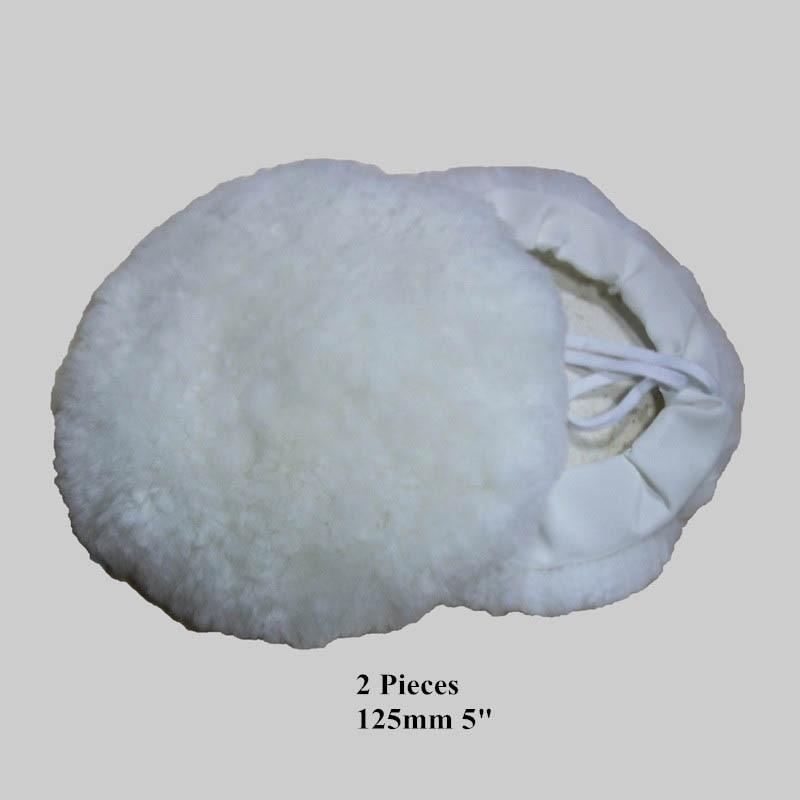 """2ks 5 """"5 palců 125 mm vlněné lešticí podložky Leštící polštářky do auta s polstrováním"""