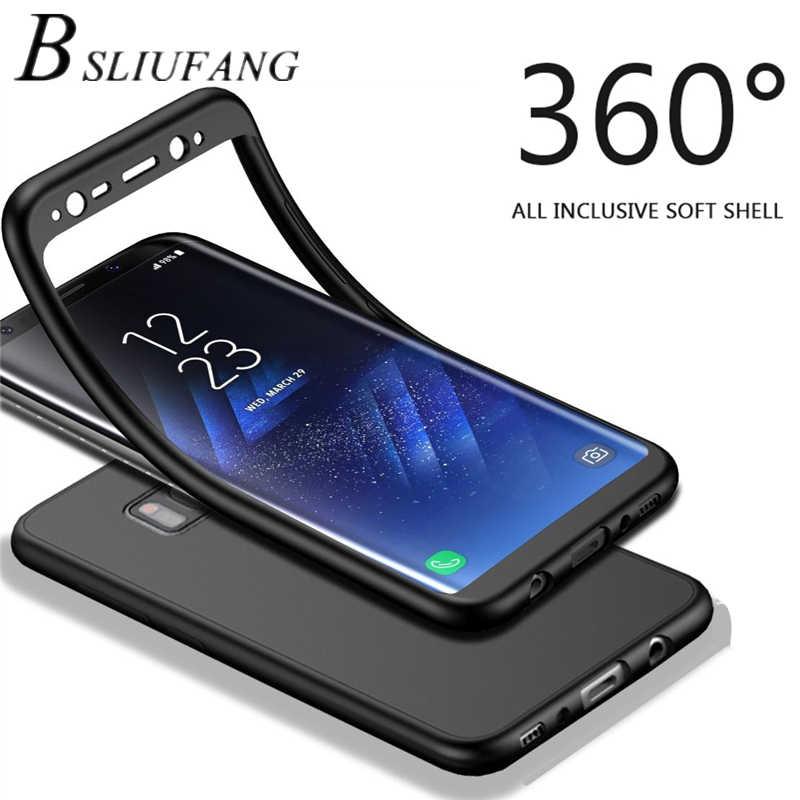 360 pełna osłona TPU miękkie etui do Samsung Galaxy A8 A6 Plus J4 J6 J8 2018 S9 S8 Plus S7 krawędzi J3 J5 J7 A3 A5 A7 2017 uwaga 8 9 przypadku