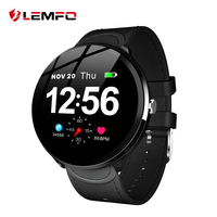 LEMFO V12 1.3 Inch Full Touch Tempered Glass Screen Smart Watch Waterproof Heart Rate Monitoring Blood Pressure For Men Women