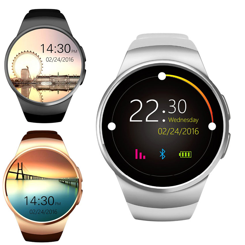 KW18 montre intelligente hommes Support SIM TF carte Bluetooth appel fréquence cardiaque podomètre Sport étanche Smartwatch pour Android IOS chaud