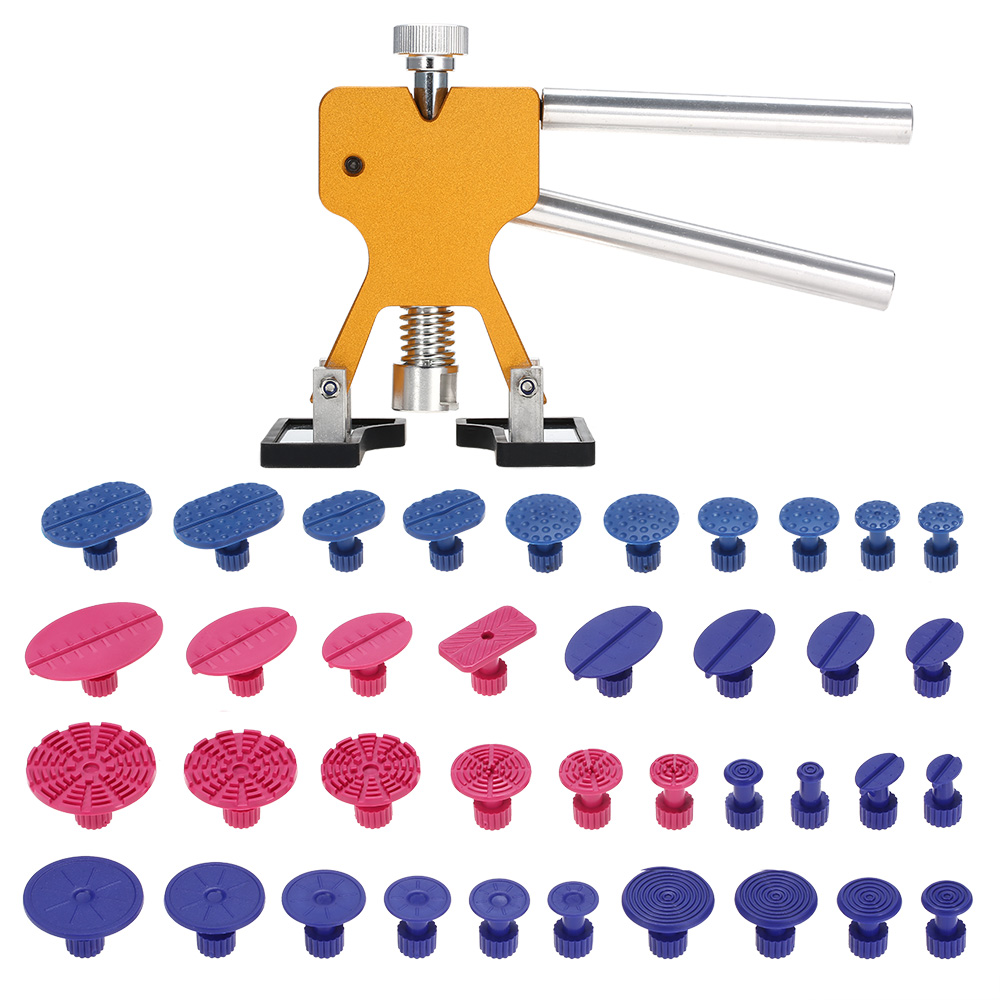 38pcs PDR Tools Dent Removal Paintless Dent Repair Tools Car Body Repair Kit Dent Puller Glue Tabs Suction Cup Tool Set pdr tools for car kit dent lifter glue tabs suction cup hot melt glue sticks paintless dent repair tools hand tools set