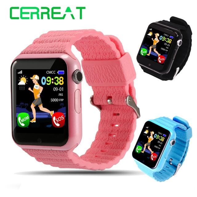 US $33 16 29% OFF V7K Kids Children Smart Watch Phone GPS LBS AGPS Voice  Call GPS Tracker Life Waterproof Baby Children Safe Smart Wristwatch-in  Smart