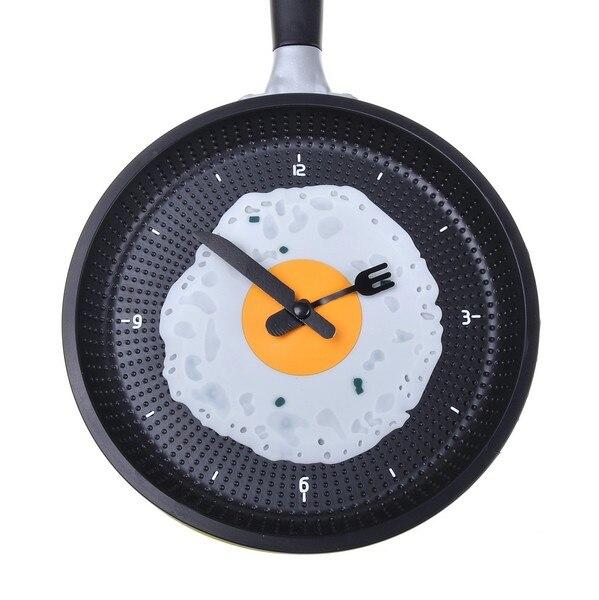 soi caldo padella orologio con uovo fritto cucina cafe wall clock giallochina