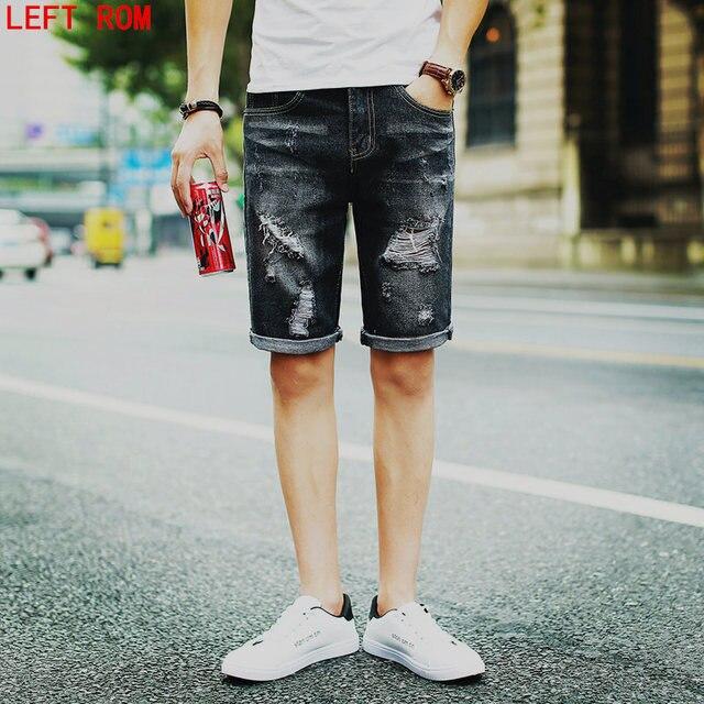 Pantalones hombres mens casual cortos masculino Jogger Skateboarding 2017 verano moda harem tobillo Denim Bermudas Vaqueros x6avYE