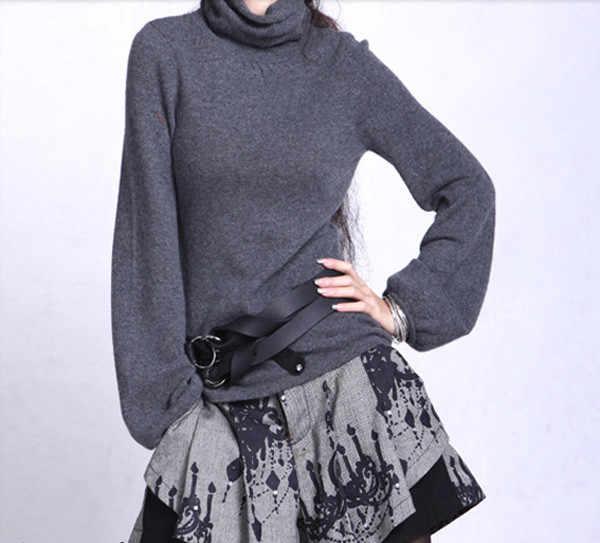 Бесплатная доставка 2017 Женский кашемировый свитер с высоким воротом женский свитер тонкий вязаный свитер