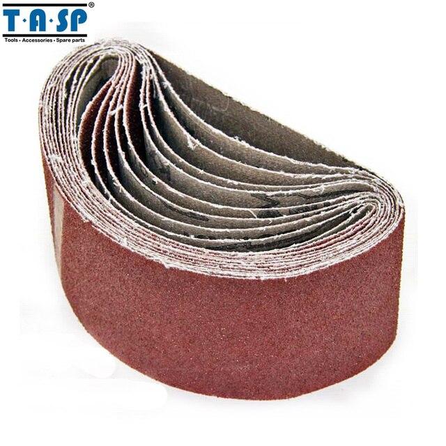 """Тасп 5 шт. 3 """"x 18"""" пояс Sander наждачная бумага 75x457 мм шлифовальной ленты оксид алюминия абразивный деревообрабатывающие инструменты-MSB75457"""