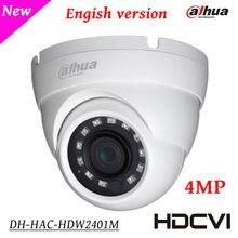 Dahua 4Mp Камеры Безопасности HAC-HDW2401M HDCVI WDR ИК Eyeball Камера HD и SD двойной выход 3.6 мм фиксированный объектив крытый/Открытый IP67