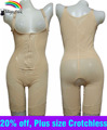 Asian Sz 4X-6X Malha Underbust BodySuits Sem Costura shaper Da Cintura shaper corpo Inteiro Plus Size crotchless body Magic shaper Shaperwear