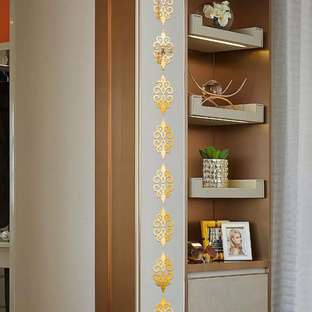 Self-Adhesive Patterned Mirror Sticker Tiles Set