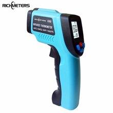 GM550-50 ~ 550 C цифровой инфракрасный термометр с лазерным Температура Gun пирометр аквариум излучательной регулируется