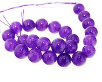 Unique Pearls jewellery Store Charm Round Amethyst Cold Jade 8mm Gemstone Loose Beads one Full Strand 15'' LC3 324