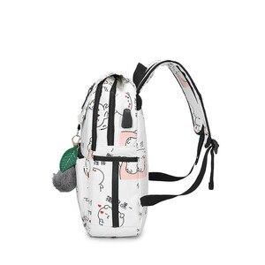 Image 4 - Haute qualité toile sacs décole pour filles cartable mode impression sac à dos pour dames sacs à dos mochilas sac à dos