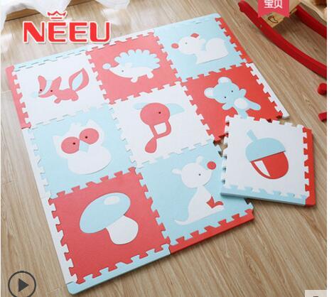 Dessin animé doux enfants ramper tapis puzzle rembourré mousse tapis bébé ramper tapis tapis tapis puzzle intérieur