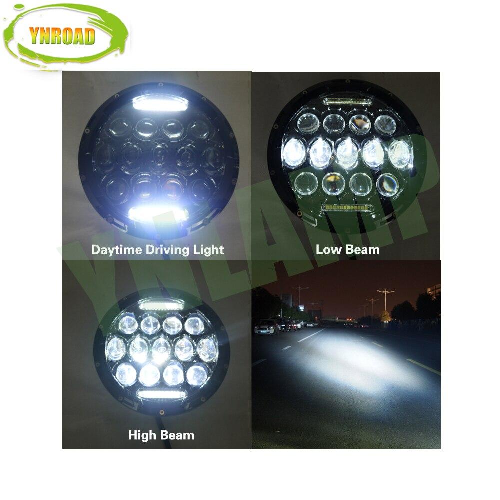 YNROAD Pair 75W Hi / Balok Rendah 7 inch 13pcs * 5w + 10WD RL Led - Lampu mobil - Foto 4