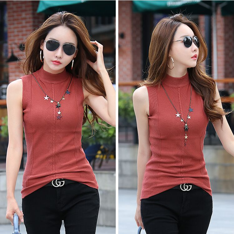 Summer Women Slim Knitting Embossing Tank Tops Female Knitted Camis Sleeveless Solid T shirts Tops