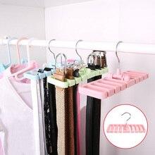 Buy Hook Organizer Holder Rack Storage Hanger Wardrobe Belt Tie Scarf Storage Rack TT-best directly from merchant!