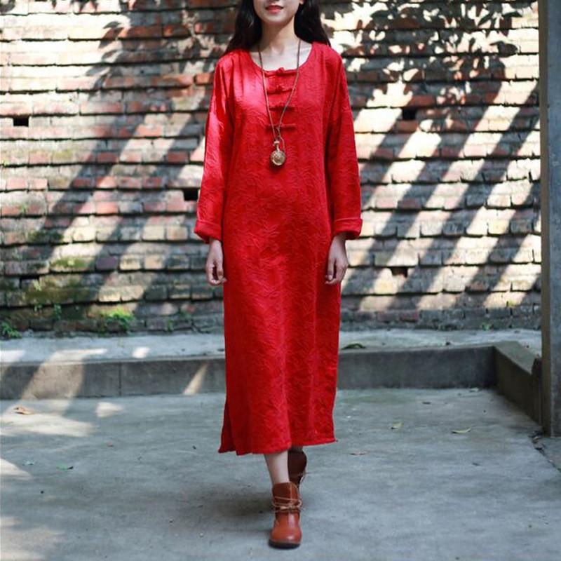 Women Dress 2017 New Fashion Cotton Linen Dress Spring Autumn Loose Batwing Sleeve Plus Size Irregular Design Solid Dress Casual