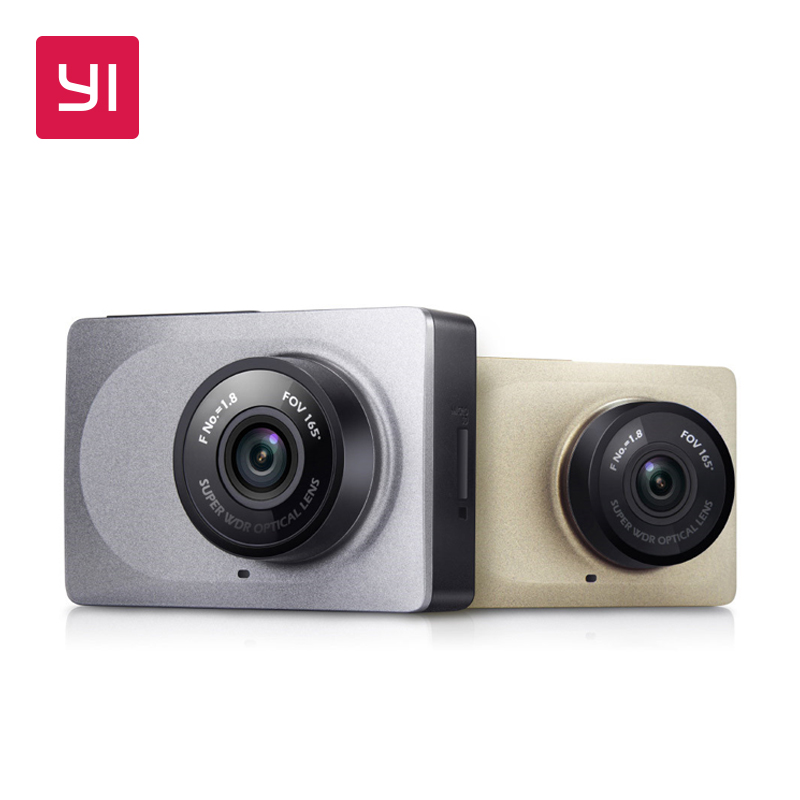 YI Dash Camera 2,7-palčni zaslon Full HD 1080P 60fps 165-stopinjski širokokotni avtomobilski DVR kamero z G-senzorjem International Night Vision