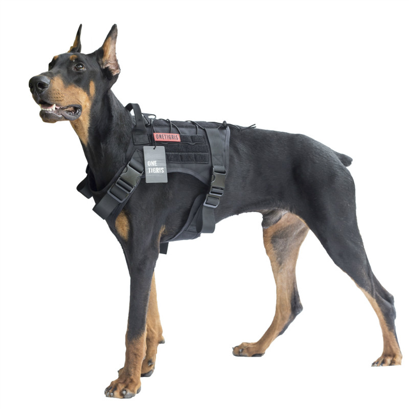OneTigris Dog Harness Vest for Walking Hiking Hunting Tactical Military Water-Resistant MOLLE Training Harness for Service Dog блуза dorothy perkins dorothy perkins do005ewcgpy3