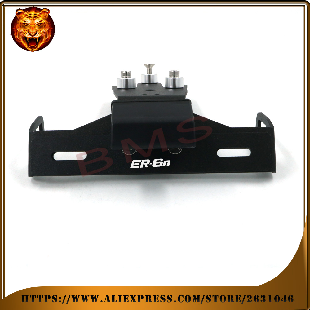 Motorcycle Tail Tidy Fender Eliminator Registration License Plate Holder bracket LED Light For KAWASAKI ER6N ER-6N 2012 2015 14 for kawasaki zx6r zx 6r ninja 2007 2008 motorcycle tail tidy fender eliminator registration license plate holder led light
